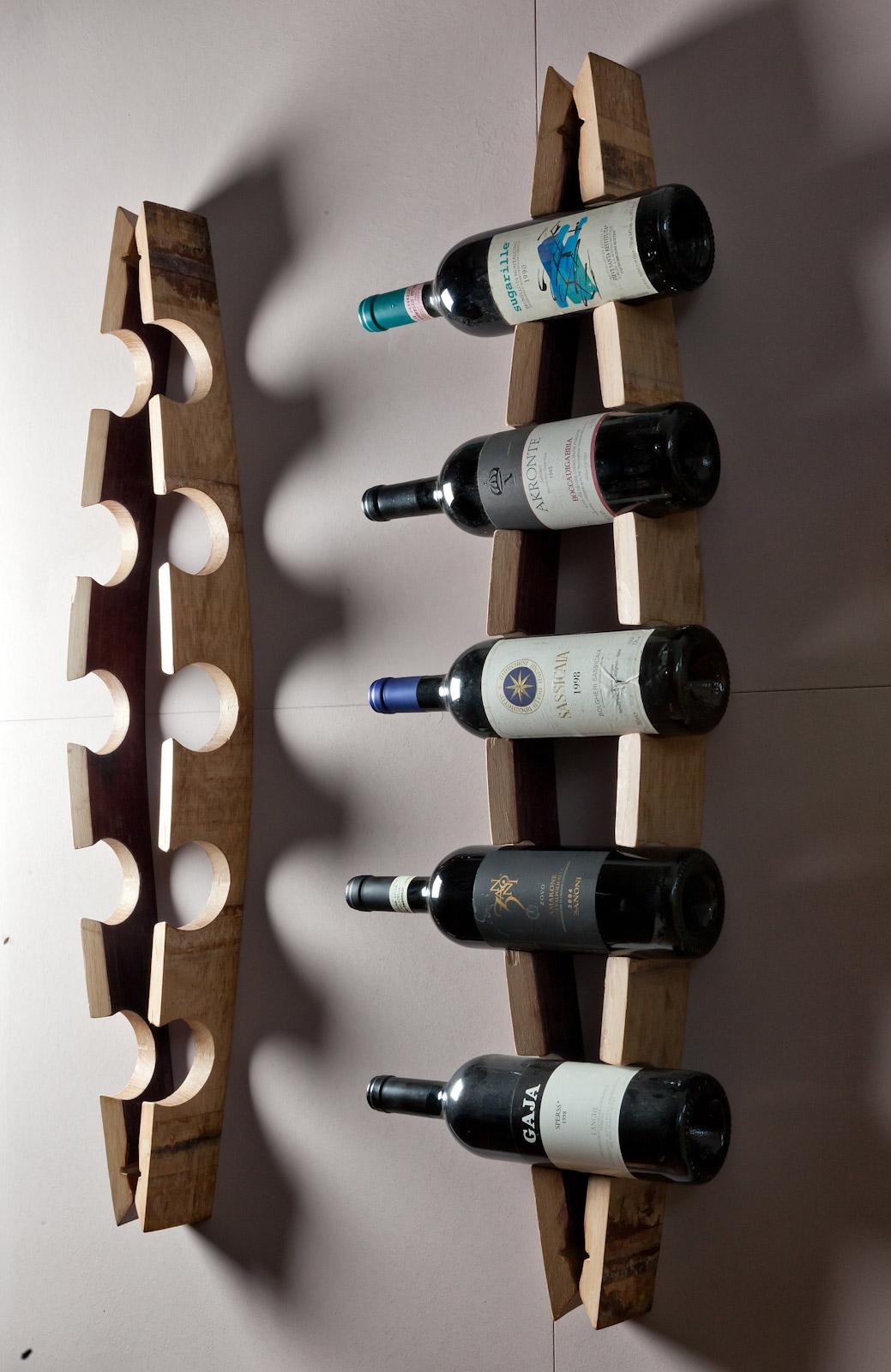 Porta bottiglie da parete con doghe - Porta vino ikea ...
