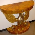 Art Pm159 Consolle Completa Di Finitura Cigni Oro E Argento
