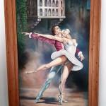 Art Pm300 Dipinto Giulietta& Romeo Con Cornice In Legno