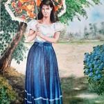 Art Pm301 Dipinto Ragazza Gioiosa